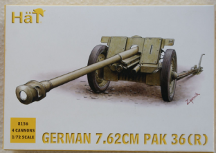 HaT 1/72 HAT8156 German 76.2mm PaK 36 Anti Tank Gun (WW2)